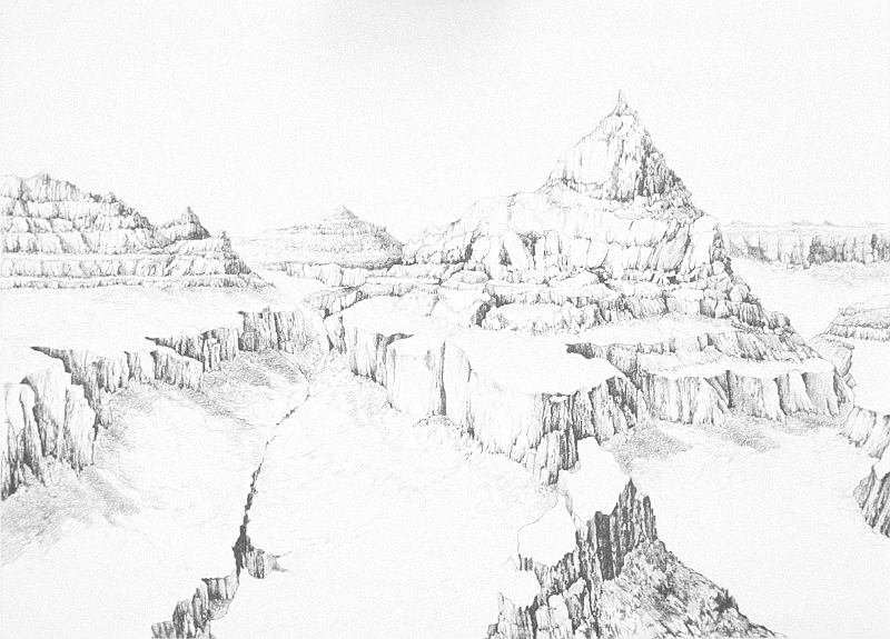 drawings-large/Grand Canyon, 22x30 inches, graphite pencil ...