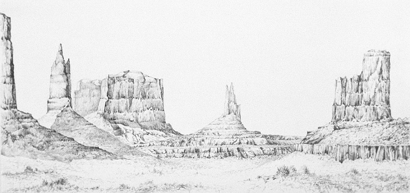 Monument Valley  14x30...